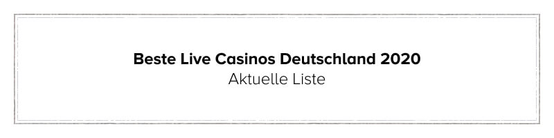 beste live casinos